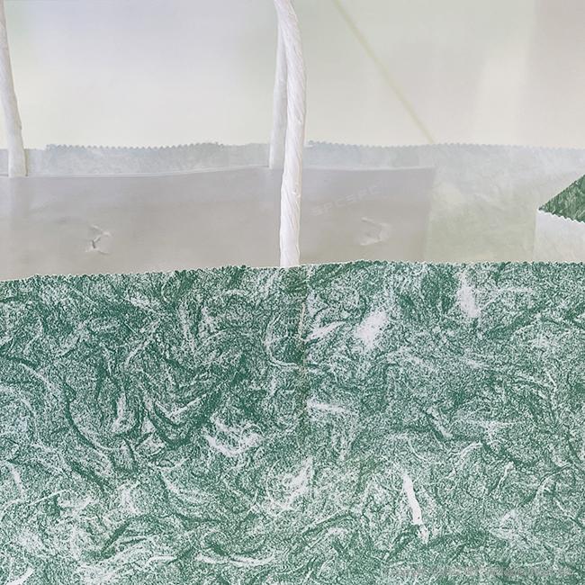 手提げ紙袋 雲竜 緑2才